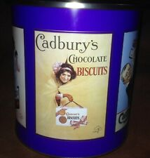 VTG Retro CADBURY CHOCOLATE BISCUIT STORAGE TIN Dessicant Drying Lid Canister