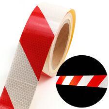 10m x 5cm ruban autocollant bande réfléchissant rouge blanc sécurité routière