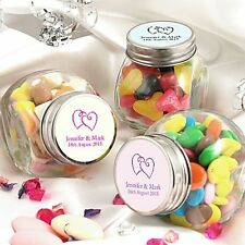 Pack of 10 Personalised Minature Sweet Favour Jars