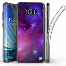 For Samsung Galaxy S8 Plus,Tri Max Transparent Full Body Case Cover NEBULA STARS