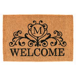Kingston Welcome 18 In. X 30 In. Monogram M Door Mat