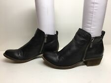 VTG WOMENS LUCKY BRAND CASUAL BLACK BOOTS SIZE 6.5 M
