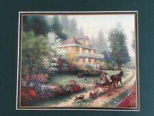 Thomas Kinkade Matted Collector's Print Sunday at Apple Hill with CoA