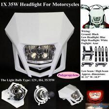 Motocross Dirt Bike Headlight Head Lamp Fairing For Honda Suzuki Yamaha Kawasaki