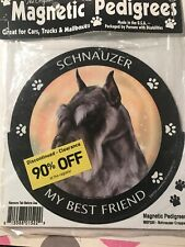 "Pet Gifts Usa Magnetic Pedigrees Dog Magnet - Schnauzer ""My Best Friend"""