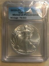 2015 p American silver eagle Icg Ms 69