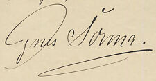 Signed letter from famous German actress INES SORMA (1865-1927) RARE!