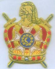 Masonic Templar DeMolay Legion Lodge Award Order Bullion Uniform Ceremony Patch
