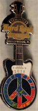Hard Rock Hotel Casino HOLLYWOOD FL 2011 PEACE Guitar PIN