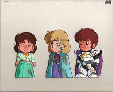 SD Gundam Gaiden OVA anime production cel - Nina Purpleton, Amuro Ray + Mora