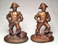 Pirate with Treasure Chest/Mint circa 1950's Cast Iron Vintage Bookends/Unmarked
