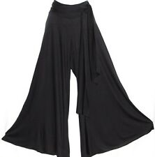 L TRIBAL GOTHIC GYPSY BOHO FUSION BELLY DANCE DANCING HAREM PALAZZO SASH PANTS