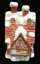 Bell Porcelain House Cottage Shaped Willitts Design Old English Snow Miniature