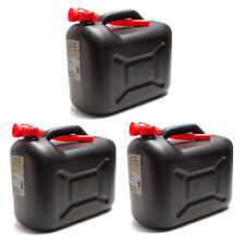 3er Set Benzinkanister 20L schwarz Benzin-Kanister 20 Liter Kraftstoffkanister