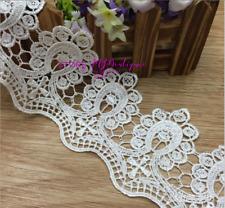 Crochet Flower Lace Trim Lace Applique Wedding ribbon Sewing Diy Crafts Fp140