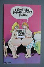 R&L Postcard: Comic, Bamforth 128, Fat Chubby Couple, Sex Guide