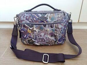 EUC Mz Wallace Purple Luna Roxy Camera Nylon Crossbody bag - Silver Hardware