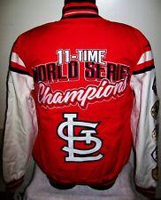 St. Louis CARDINALS 11 Time World Series Championship Cotton Jacket M L XL
