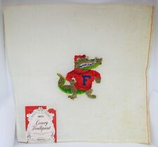 Vintage Dritz FLORIDA GATOR Needlepoint Canvas With Preworked Design