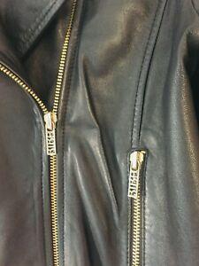 biba leather biker jacket 12 ladies