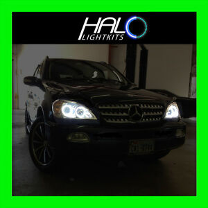 ORACLE LIGHTING 1998-2005 MERCEDES ML W163 WHITE LED Halo Ring Light Set 4 RING