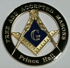 Prince Hall Affiliated Masonic Car Emblem in Black with Blue