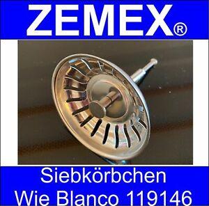 ZEMEX® Siebkorbventil Siebkörbchen Spüle Verschluss Stopfen wie Blanco 119146