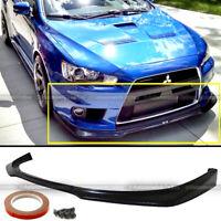 Fit 08-15 EVO X 10 Ralliart MR Style Unpainted Front Bumper Lip Spoiler Splitter