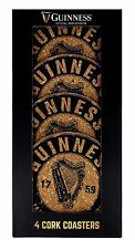 Guinness Cork Coasters (set of four)  (sg)    **FREE GIFT OFFER**