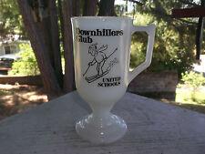 DOWNHILLERS CLUB United Schools Footed Cup Mug Ski Skiing Skier