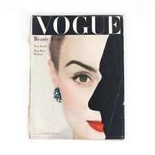 Vintage NOVEMBER 1 1944 VOGUE Fashion Beauty Magazine Issue RARE