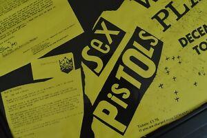 Mega RaRe OriGiNaL SEX PISTOLS Never Mind the Bans Punk PROMO tour Poster