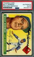 Billy Herman PSA DNA Coa Autograph 1955 Topps Hand Signed