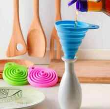 Silicone Gel Mini Practical Collapsible Foldable Funnel Hopper Kitchen Tool