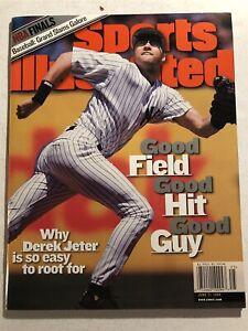 1999 Sports Illustrated NEW YORK Yankees DEREK JETER No Label NEWSSTAND Good Guy