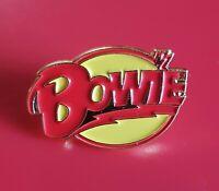 David Bowie Pin Ziggy Stardust Enamel Retro Metal Brooch Badge Lapel