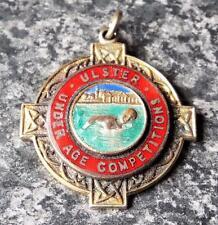 Vintage Ulster natación bajo edad medalla de competencia