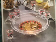 Crystal Clear Game Night Roulette Drinking Game Shot Glasses 8 Piece Set