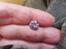 2.93 CT 9.45 mm VVS1 Fiery Blush Pink Color Round Loose Moissanite