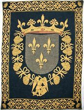 BLOIS LYS / LILY COAT OF ARMS FULLY LINED BELGIAN TAPESTRY WITH ROD SLEEVE, 1591