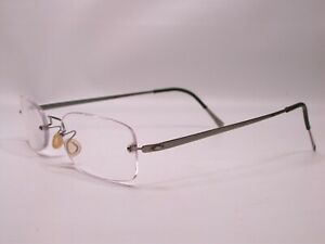 Lindberg Silver Titanium Lightweight Modern Eyeglasses Frames Made in Denmark