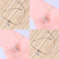 Hot Silver Star Of The Same Paragraph Moon Star Beads Anklets And Hand Chain