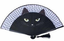 HIGH QUALITY Rare Catwomen Hand Painted Folding Handheld Fan 19