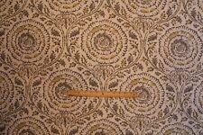 """Kamala"" by Bravo Fabrics, a printed floral decorator linen in lemonade and grey"