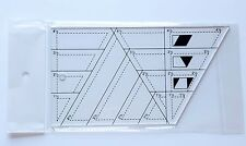 Patchwork ruler. Diamond+60 Degree&Half Triangles QUILT RULER. Quilting, sewing