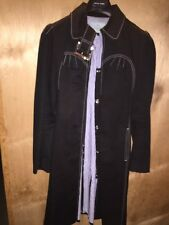Tocca 100% Cotton Black Trench Cooat