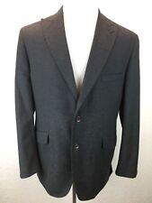 S32 Kroon 44R Wool Blend Dark Gray Peak Lapel Collar Double Vent Jacket