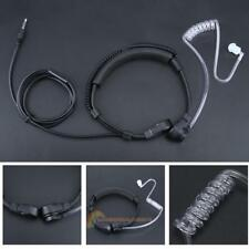 1Pin Adjustable 3.5mm Earpiece Covert Air Tube Earphone Headset with Throat Mic