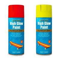 Rust-Oleum Fluorescent High Glow Neon Aerosol Spray Paint Yellow Red-Orange Matt