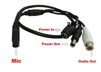 High Sensitive Audio Microphone All-In-One RCA Audio BNC Video Power for CCTV